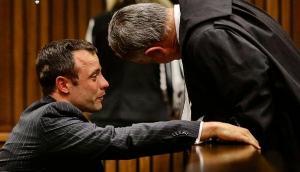 Oscar Pistorius with Barry Roux